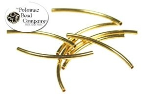 Gold Plated Curved S Tube 20mm