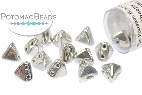 Super Kheops Beads - Crystal Labrador Full (Argentees Silver) - 9g Tube - Pack of 50