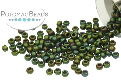Miyuki Seed BeadMatte Metallic Green Iri
