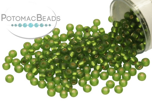 Miyuki Seed BeadMatte Silver Lined Olive 11/