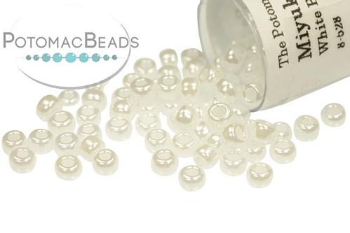 Miyuki Seed BeadWhite Pearl Cey 8/0