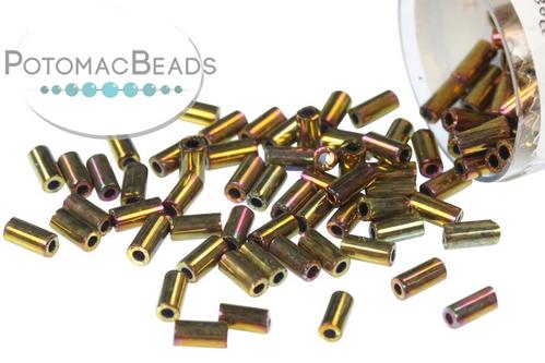 Miyuki Bugle Metallic Gold Iris 3m