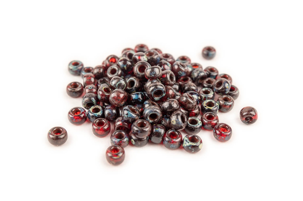 Miyuki Seed Beads Picasso Garnet Trans
