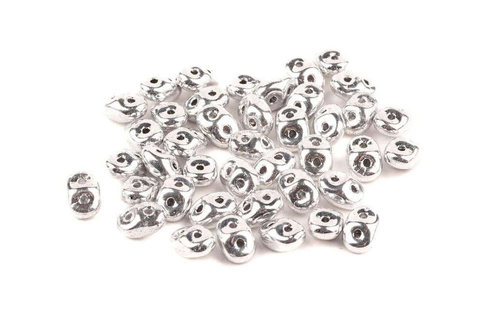 Superduo Crystal Labrador Full (Silver)