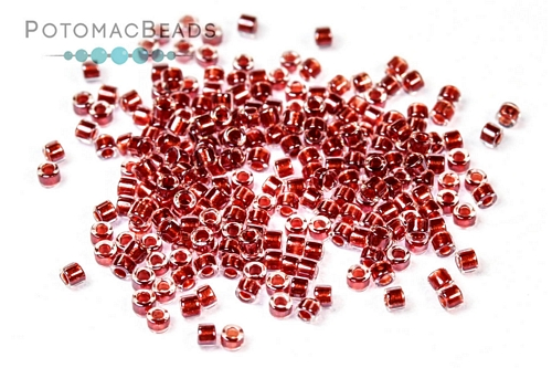 Delica Sparkle Cranberry Lined Crystal