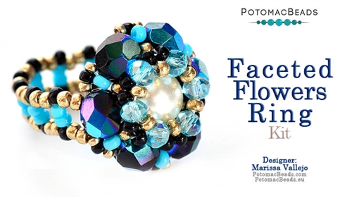 Kit Faceted Flowers Ring
