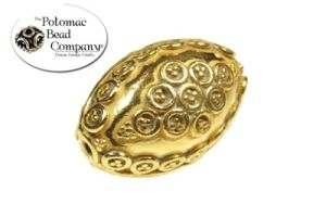 Gold Coated Oval Bead