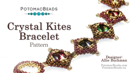 Bead Weaving 846 Crystal Kites Bracelet Pattern