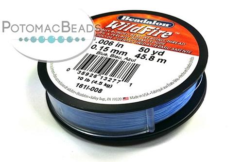 """Beadalon Wildfire Blue .006"""""""