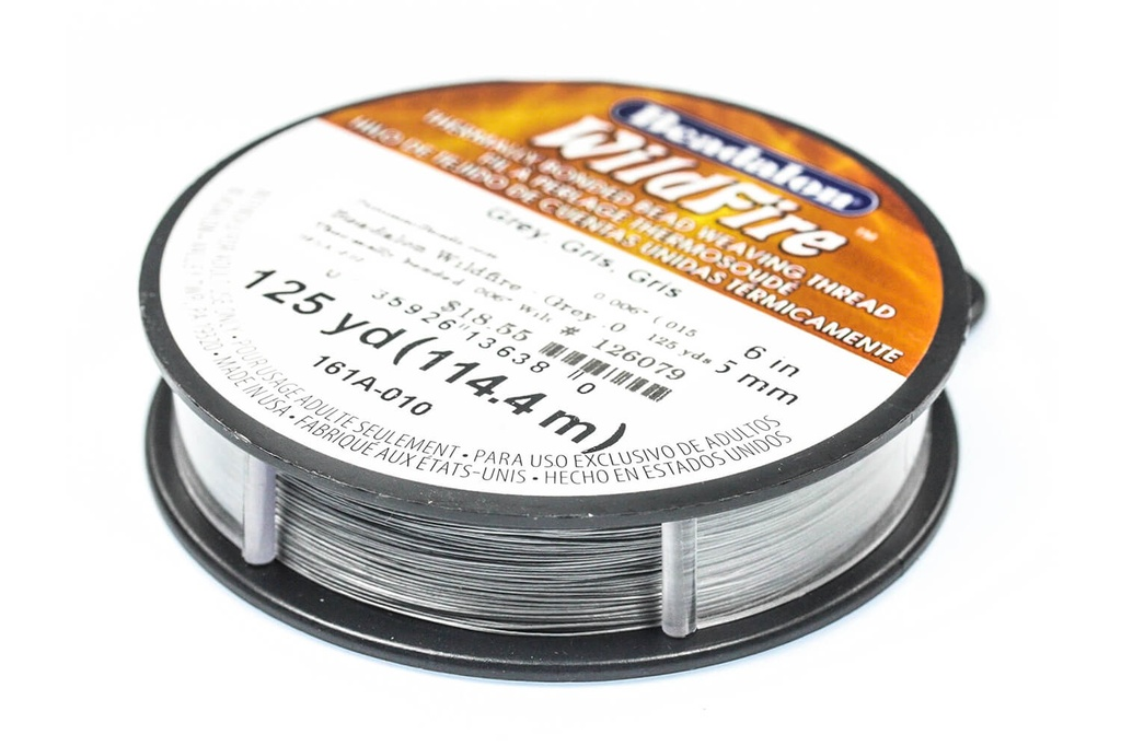 Beadalon Wildfire Grey .006""