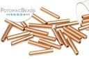 Czech Bugle Crystal Bronze Copper