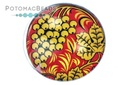 Glass Cabochon Folk Art Golden Grapes