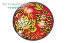Glass Cabochon Folk Art Peony