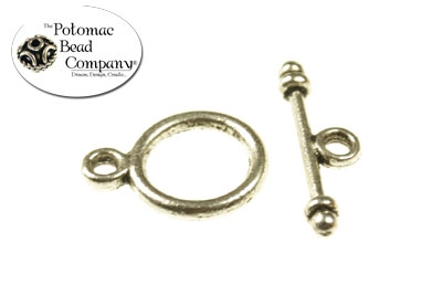 Pewter Toggle Small Round