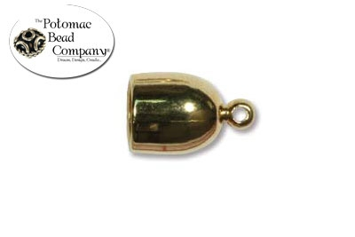 Gold Plated Bullet End Cap 6mm