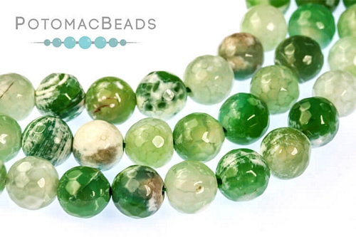 8mm Green Agate Bead Green Round Agate Bead for Jewelry BEAD-A23-8