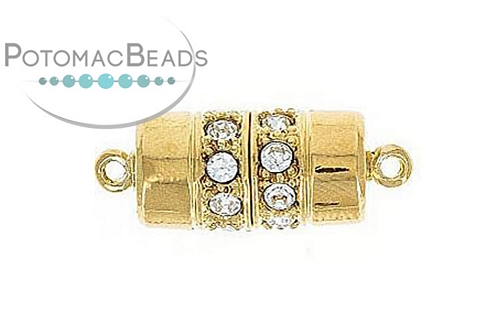 Claspgarten Clasp Cylinder GP 18x9m with crystals (23kt Gold Plated)