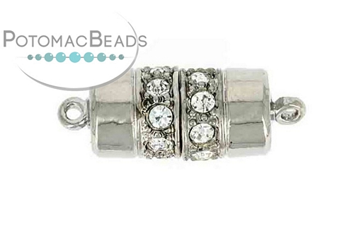 Claspgarten Clasp Cylinder SP 18x9m with crystals (Rhodium Plated)