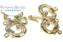 Claspgarten Clasp Loops GP 3-Strand Hook & Eye (23kt Gold Plated)