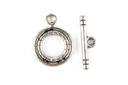 Pewter (S) Toggle 3 Strand Twisted Design