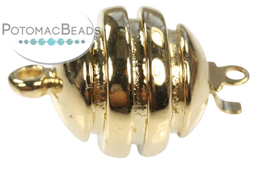 Claspgarten Clasp Grooved Round GP 1-loop (23kt Gold Plated)