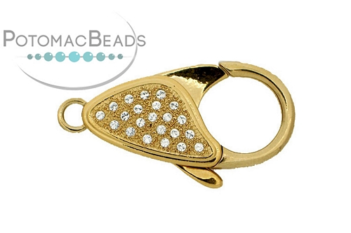 Claspgarten Clasp Lobster Clasp GP Crystals (23kt Gold Plated)