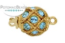 Claspgarten Clasp Netted Aqua GP Round 10.5mm (23kt Gold Plated)