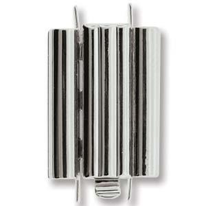 Beadslide Bar Design Rhodium Plated 10x18mm