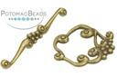 Pewter (Brass) Toggle - Vine & Grape