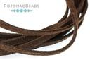 Ultra Microfiber Suede Dark Brown Cord