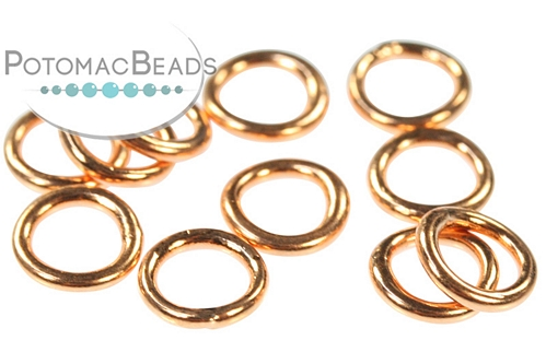 Closed Jump Rings Copper - Bag - Pack of 50
