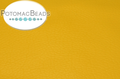 "Art Leather - Yellow - Per Sheet - Sheet 6x9"" (15x22.5cm)"