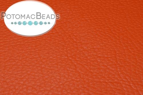 "Art Leather - Orange - Per Sheet - Sheet 6x9"" (15x22.5cm)"