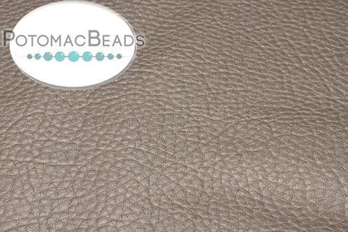 "Art Leather - Grey Gold - Per Sheet - Sheet 6x9"" (15x22.5cm)"