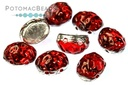Baroque Oval - Backlit Rubysol