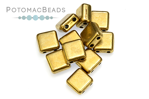 Potomax Tile Bead - Antique Brass (Pack of 50)