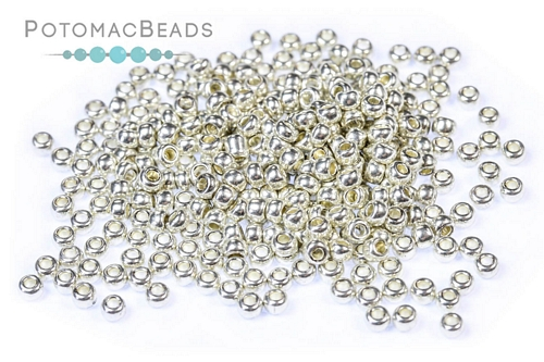Czech Seed Beads Metallic Silver 11/0