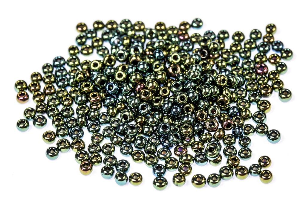 Czech Seed Beads Green Iris 11/0