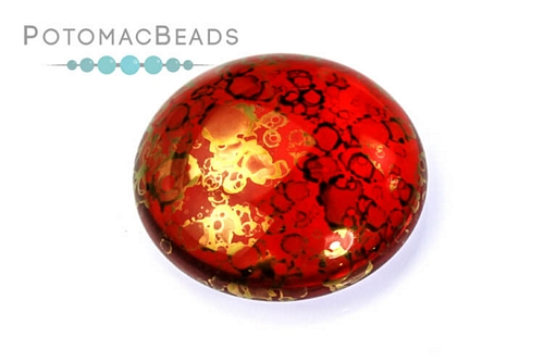 Cabochon Par Puca - Light Siam Bronze 18mm