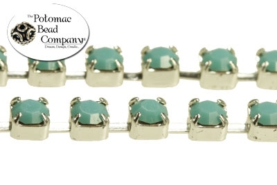 Cup Chain Turquoise Silver