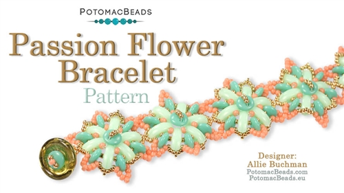 Beadweaving 1168 Passion Flower Bracelet Pattern