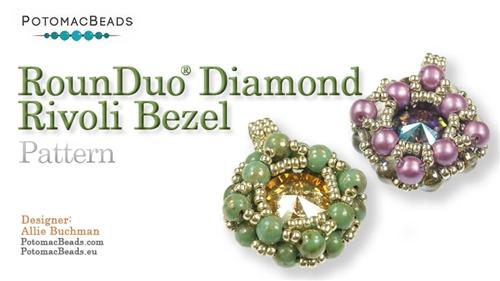 Beadweaving 791 - RounDuo Diamond Rivoli Pendant Pattern