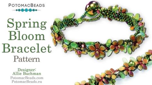 Beadweaving 1185 Spring Bloom Bracelet Pattern