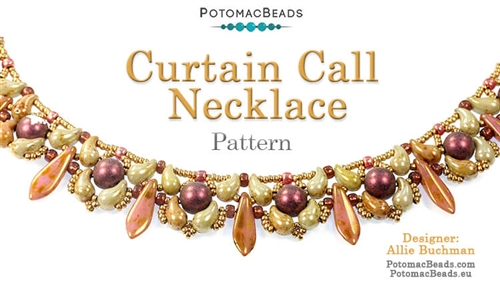 Beadweaving 1197 Curtain Call Necklace Pattern