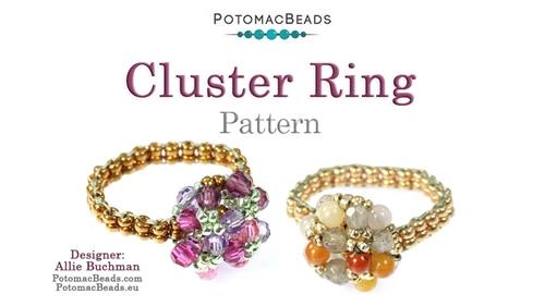 Beadweaving 1207 Cluster Ring Pattern