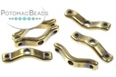 BowTrio Beads - Antique Brass - 18x4mm - Pack of 50 - Bag - Pack of 50