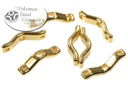 BowTrio Beads - Gold - 18x4mm - Pack of 50 - Bag - Pack of 50