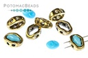 Halo Bead SuperDuo Antique Brass (10 Pack)