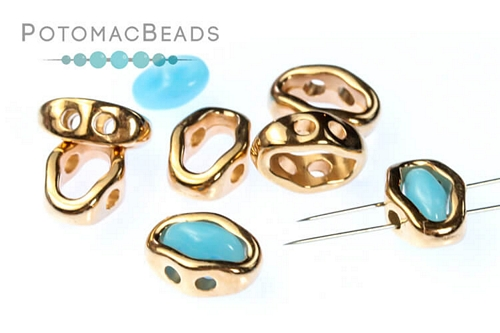 Halo Bead SuperDuo Rose Gold (50 Pack)