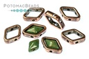 Halo Bead for Diamond Shapes - Antique Copper (10 Pack)